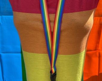 Rainbow LGBTQIA+ Pride Lanyard Badge Holder