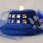 Light-up TARDIS Mini Fascinator Hat