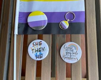 LGBTQA Nonbinary Pride Starter Kit