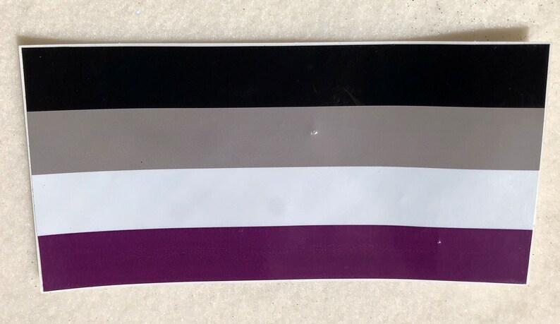 LGBTQA  Asexual Pride Bumper Sticker image 0