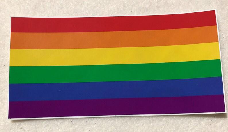 LGBTQA  Rainbow Pride Bumper Sticker image 0
