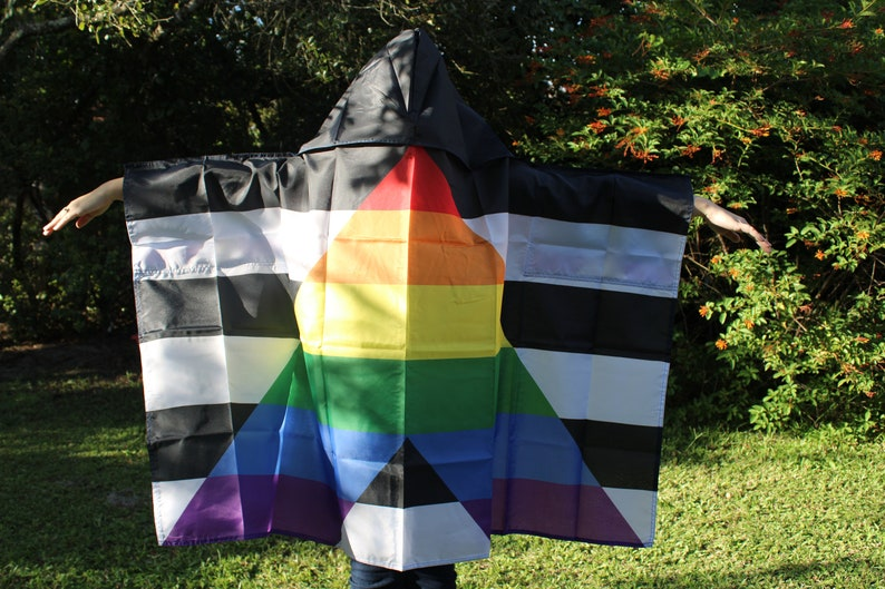 LGBTQA Pride Straight Ally Hooded Cape image 0