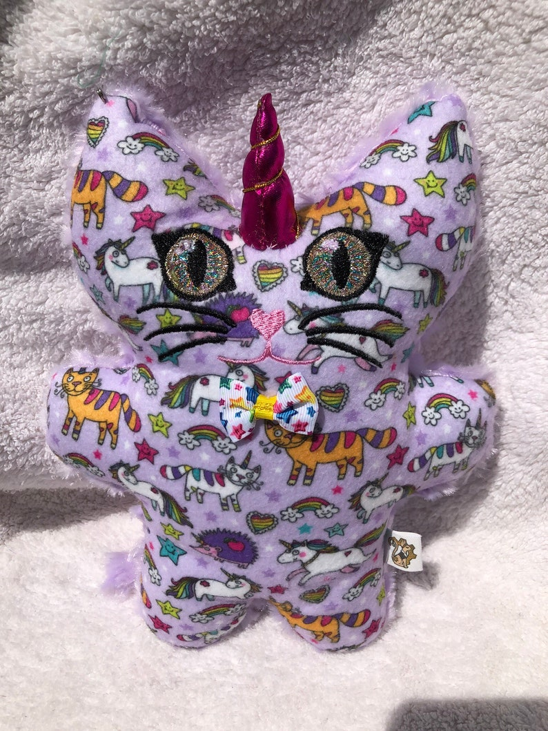 Mini Caticorn Unicorn Kitty Plushie image 0