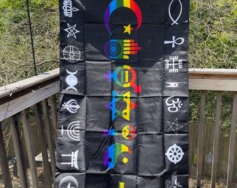 LGBTQA  Pride Coexist Flag