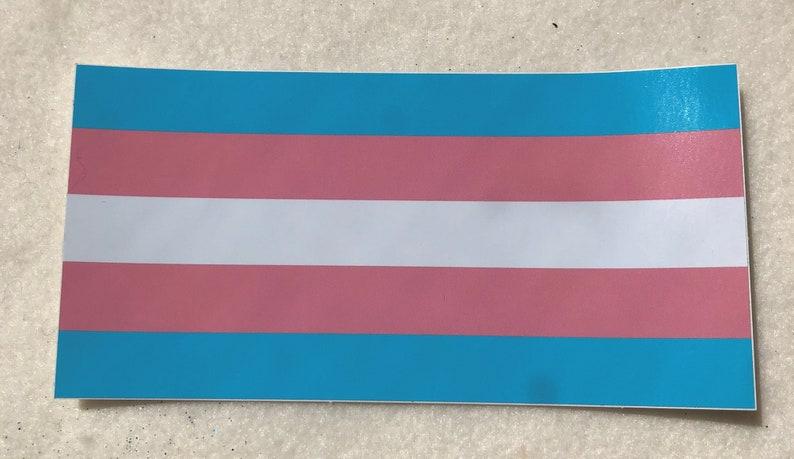 LGBTQA  Transgender Pride Bumper Sticker image 0
