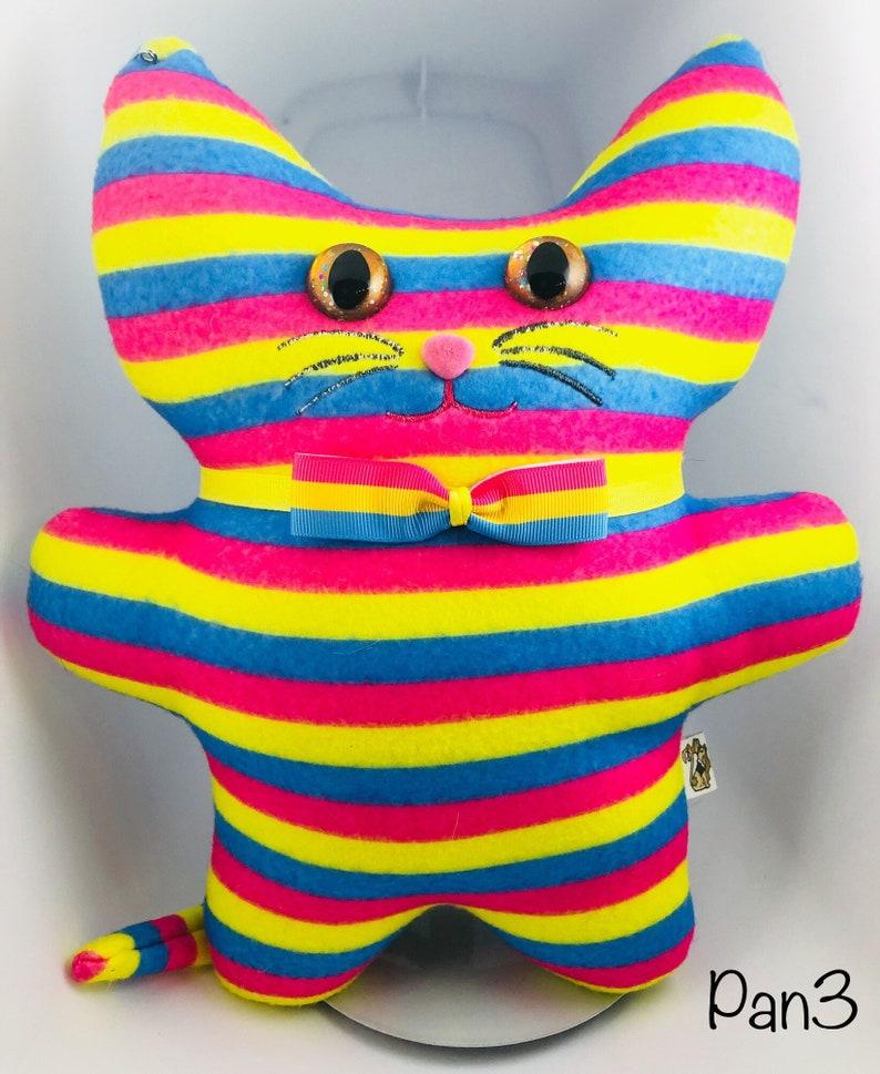 Pansexual Pride Kitty Plushie image 0