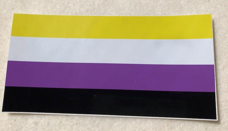 LGBTQA  Nonbinary Pride Bumper Sticker image 0