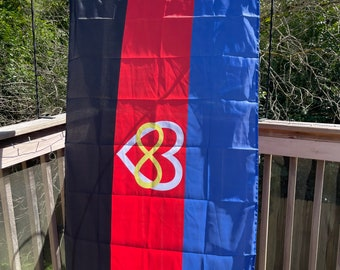 LGBTQA Polyamory Heart Pride Flag