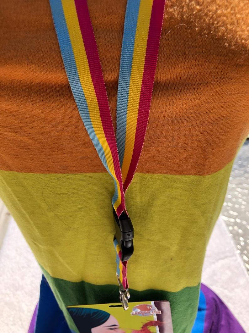 Pansexual Pride Lanyard Badge Holder image 0
