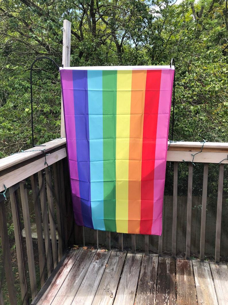 LGBTQA  Pride Baker Rainbow Flag image 0