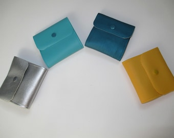 Small pouch with protective masks, storage masks, skaï, color to choose from