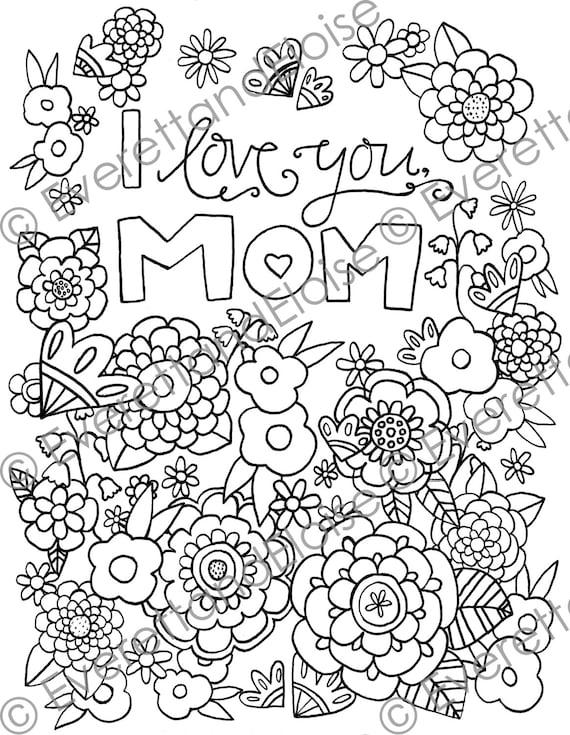 Digital Descargar página para colorear de Te quiero | Etsy