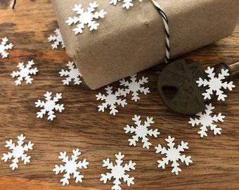 Christmas confetti Gold Snowflake Christmas table decorations