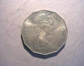 1971 Australian 50 Cent coin 1445 UNC