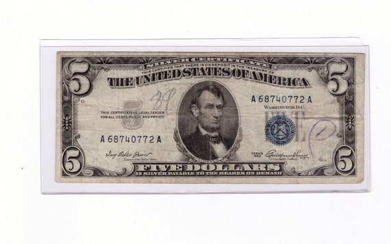 United States $1  1957 Silver Certificate Blue Seal UNC USA Fr 1619 Pref V Suf A