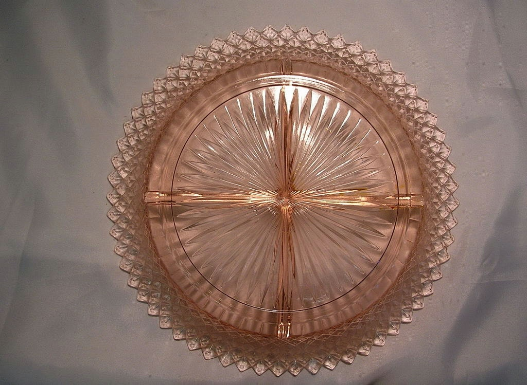 Vintage Pink Depression Glass Bon Bon Dish Miss Liberty ...