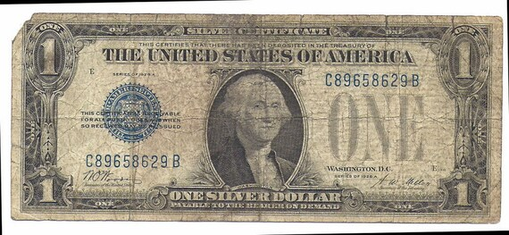 Condition! 1928 FUNNY BACK Silver Certificate in XF