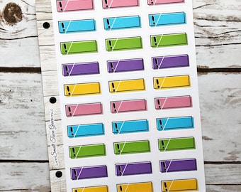 Bow Half Boxes #9 Planner Stickers Life Planner Happy Planner Erin Condren