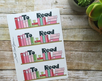 Retro Bookshelf Stickers- Stickers to help organize and accessorize your planner