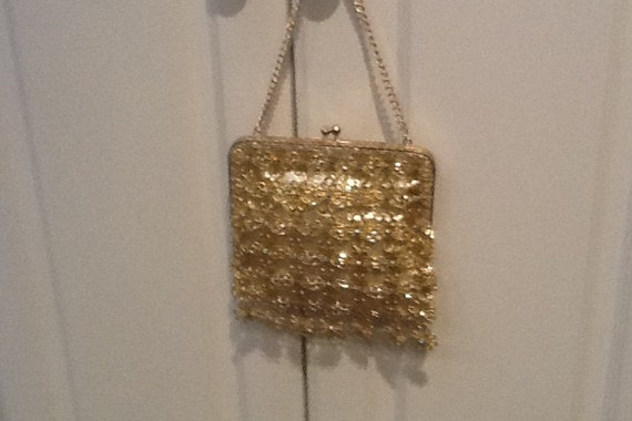 Vintage Handmade Gold Lame Evening Bag by Delill