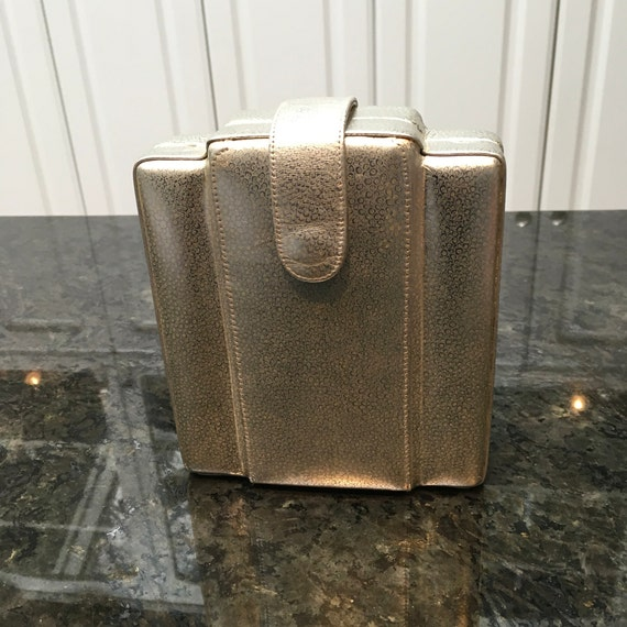 Vintage Bolan Structural Clutch with Deco Vibe