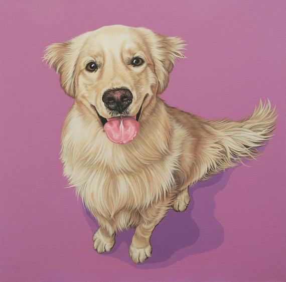 Golden Retriever Archival Art Print Affordable Art For Dog Etsy