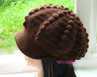 8e4cffb8174bb Brown Crochet Womens Hats
