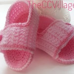 Pink crochet baby shoes with pink button, Ballerina crochet Baby girl sandals, baby shower gift, baby newborn gift, newborn baby girl shoes