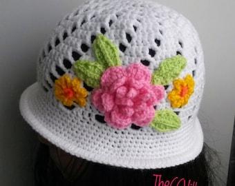 186c2604897 Spring Crochet baby girl Hat