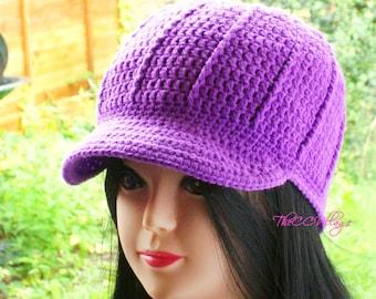 Purple Crochet Womens Hats, womens winter hat Crochet Hats for women, Handmade Teen Hat, winter hats for women Cap, Crochet Beanie