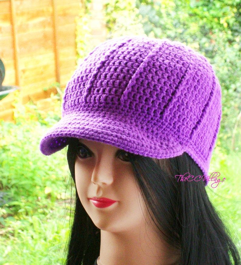 Purple Crochet Womens Hats womens winter hats Crochet Hats image 0