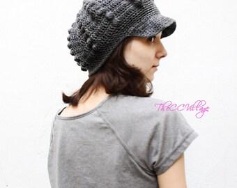 womens hats winter, Grey Crochet Womens Hat, crochet Teen, personalized gifts