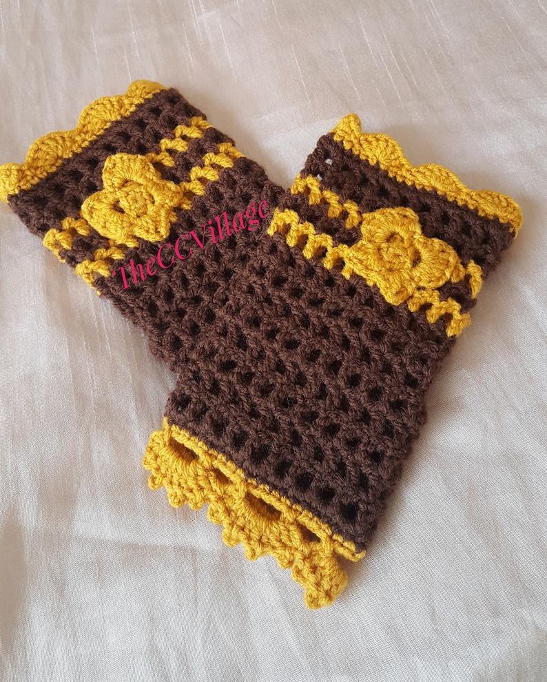 Crochet Fingerless Gloves wrist warmer fingerless mittens image 0