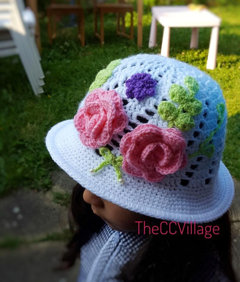 520f78fd5ca White Crochet panama hat baby girl Hat baby shower Cloche
