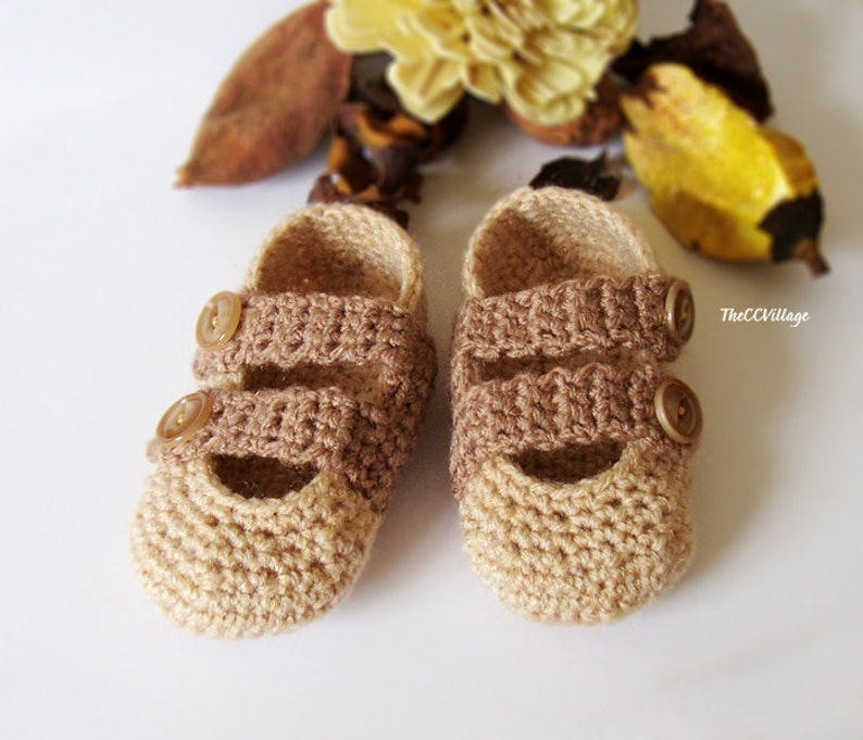 0793a2858e6a3 Brown handmade crochet baby Boy shoes with Brown buttons, Ballerina Newborn  Baby Shoes, Slippers