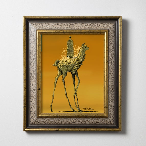 surrealist art 16x20 frame 6 different options Salvador Dalí prints matted