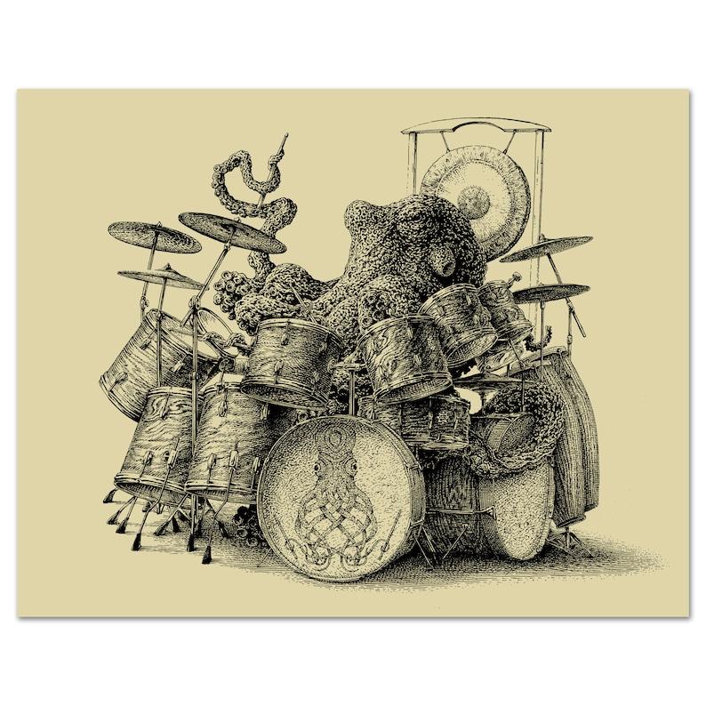 """Drumming Octopus"" Print"