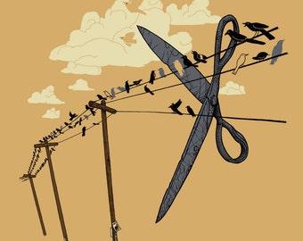 SNIP 8x10 Scissors Art Print