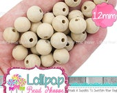 Wooden Beads Natural Wood Beads ECO Friendly Beech Wood Round Beads Wooden Balls DIY Crochet Beads Jewelry Making Nursing Necklace 12mm Bead