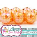 20mm Beads Harvest Orange Aurora Borealis Crackle Beads Rainbow Beads Iridescent Beads Bubblegum Beads Acrylic Beads Bubble Gum Beads 10