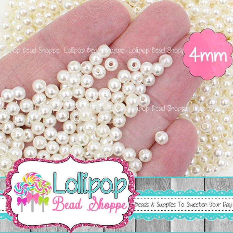 Approx 200 Glossy Pearl Rhinestone Gems 4mm Various Colours on Listing