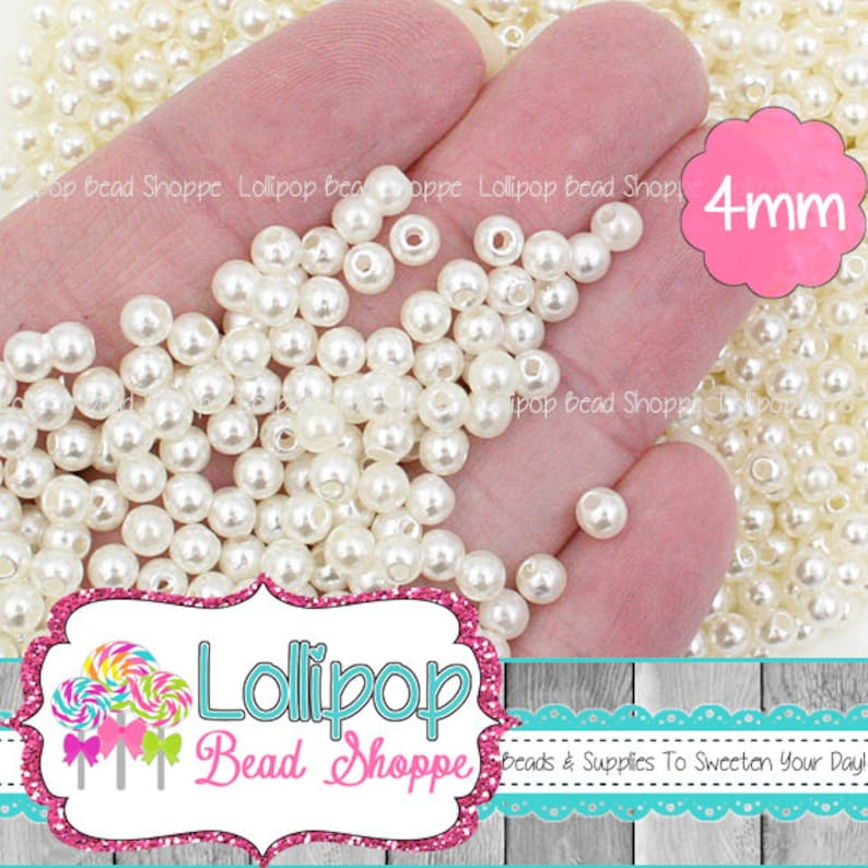 BUY ONE GET ONE FREE Jewellery Making 200 pieces 4mm Round Glass Pearl Beads