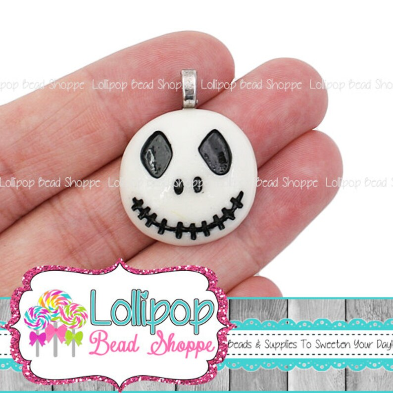 2 Skull Pendants Halloween Pendants Skull Charms Monster image 0