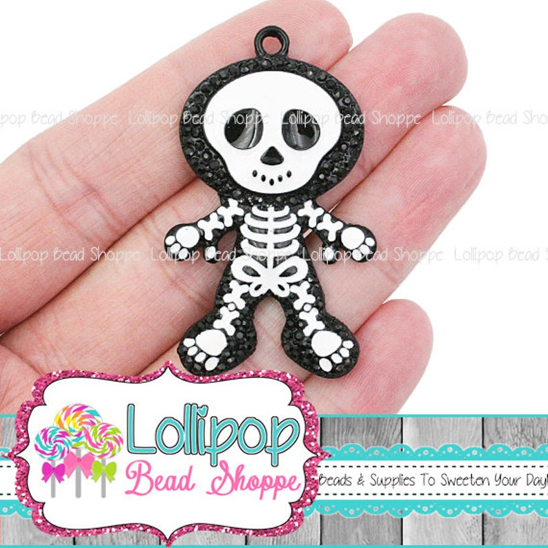 SKELETON Pendant Halloween Pendant Halloween Charm Skeleton image 0