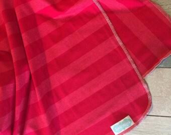 Hot Pink on Pink Stripe swaddle blanket-photography prop- receiving blanket