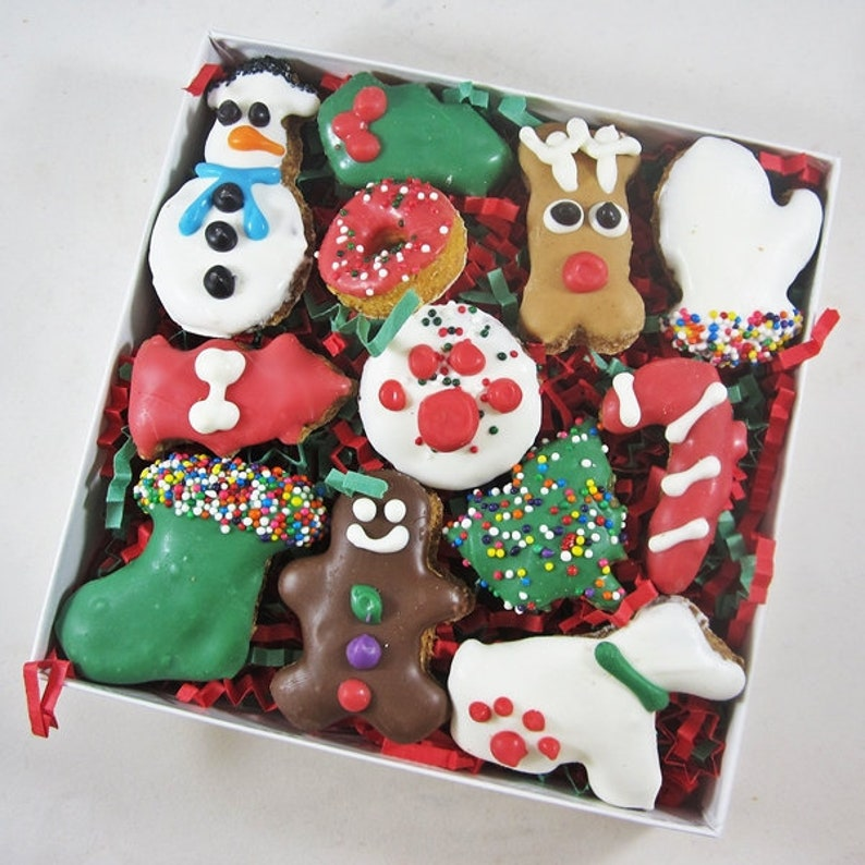 12 Piece Christmas Dog Treat Assortment Christmas Dog Treats image 0