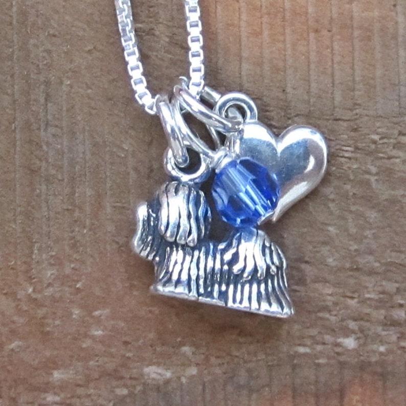 Dog Love Maltese Love Maltese Jewelry Maltese Mini Heart Sterling Silver Necklace Maltese Charm Necklace