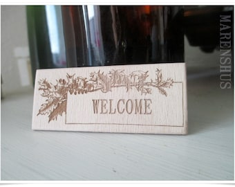 wooden sign, small
