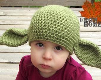 Alien Inspired Crochet Hat - Baby, Toddler, Child, Adult - Halloween Costume, Costume, Character, Sci-Fi, Winter Beanie