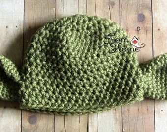 Newborn 0-3 Month Humanoid Alien Inspired Hat, Ready to Ship, Beanie, Prop, Winter, Costume
